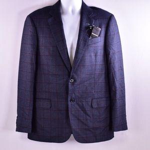 Emporio Armani Windowpane Silk &Wool Blazer (M60C)